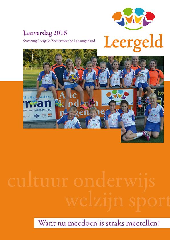 Jaarverslag 2016 Leergeld Zoetermeer en Lansingerland